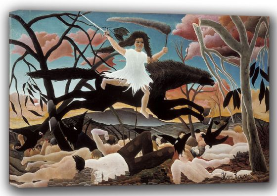 Rousseau, Henri: War, or The Ride of Discord. Fine Art Canvas. Sizes: A4/A3/A2/A1 (001398)